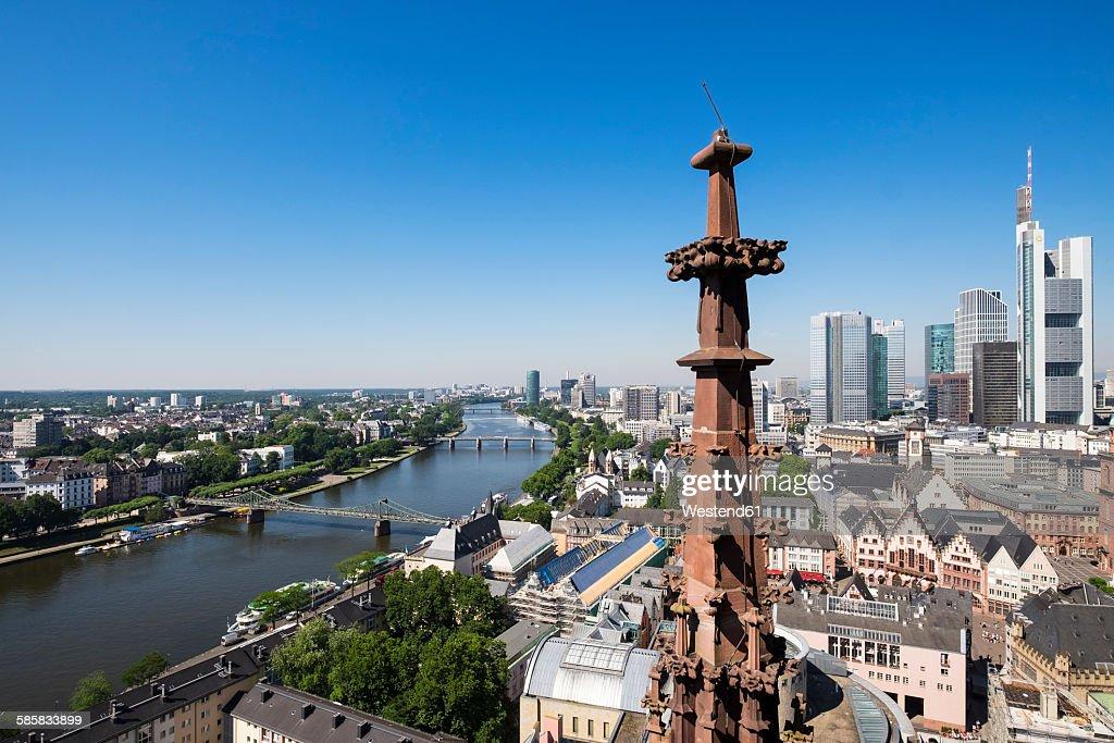 Germany, Frankfurt, skyline as seen from Domturm