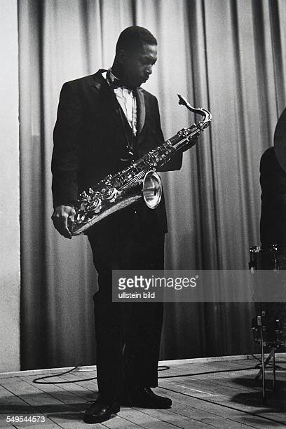 Germany Frankfurt/Main jazz musician John Coltrane giving a concert