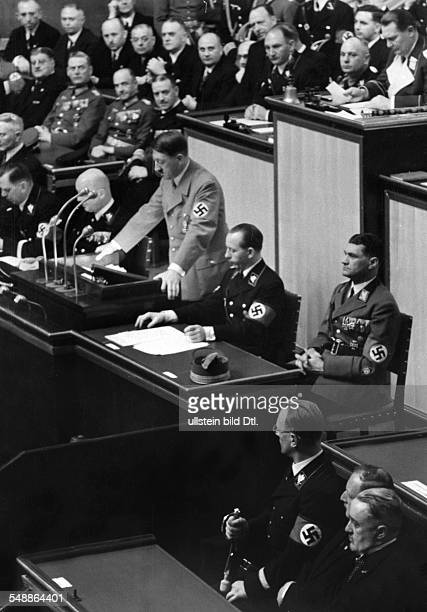 Germany Free State Prussia Berlin Berlin Debate at the Reichstag at the Kroll Opera House in Berlin concerning the 'Anschluss' of Austria Adolf...