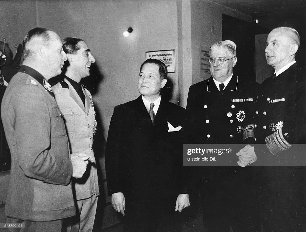 Germany Free State Prussia Berlin Tripartite Pact After a ceremony to mark the 2nd anniversary of the Pact in the ministry of labour Admiral Richard...