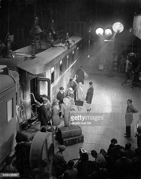 Germany Free State Prussia Brandenburg Province Potsdam The Orient Express in the film studios 1929 Photographer Emil Otto Hoppe Published by 'Der...