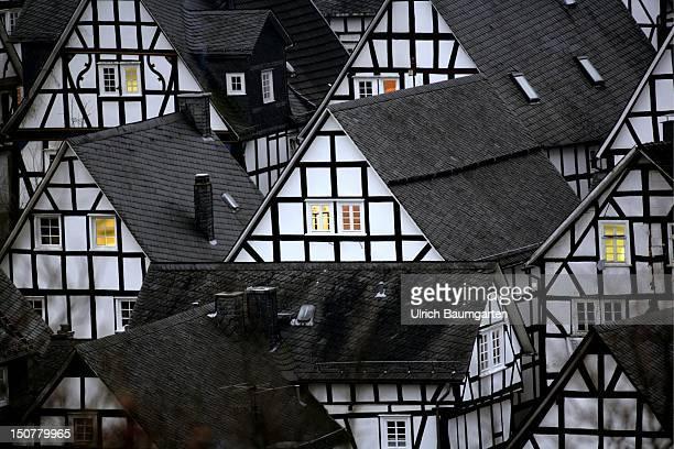 Germany Freudenberg Halftimbered houses in Freudenberg Germany