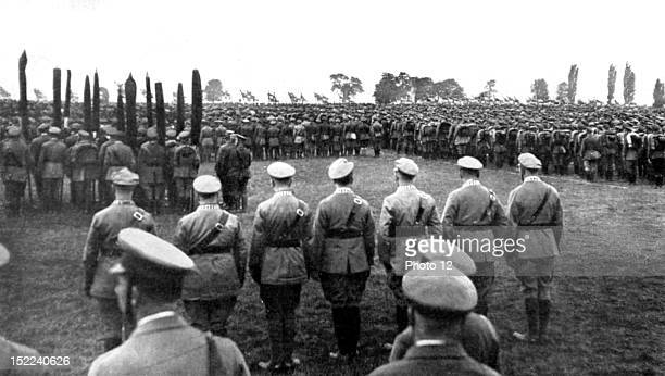 Germany Gathering of the 'Steel Helmets' at the training ground of Koblenz