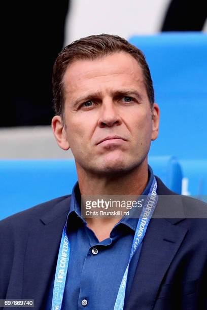Germany General Manager Oliver Bierhoff looks on during the FIFA Confederations Cup Russia 2017 Group B match between Australia and Germany at Fisht...
