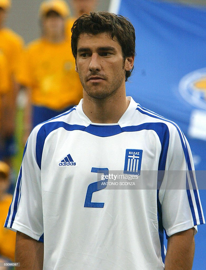 Greek defender Giourkas Seitaridis poses prior to the 2005 FIFA football Confederations Cup match against Greece at Zentralstadion in Leipzig 16 June...
