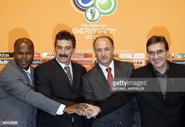 Group D coaches Angolas head coach Luis de Oliveira Goncalves Mexicos head coach Ricardo La Volpe Portugals Brazilian head coach Luiz Felipe Scolari...