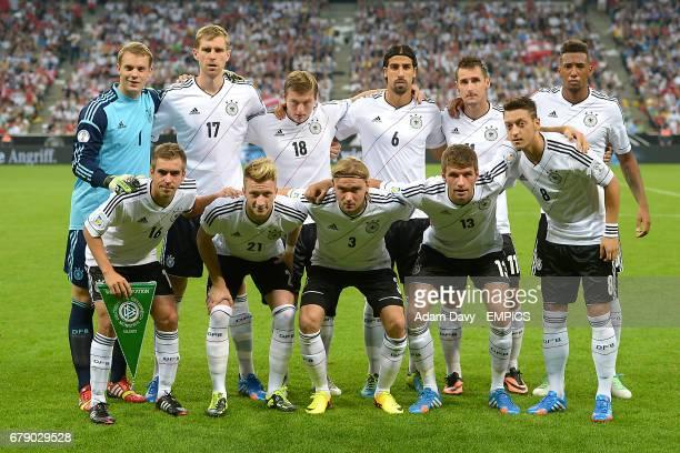 Germany Group Shot Goalkeeper Manuel Neuer Per Mertesacker Toni Kroos Sami Khedira Miroslav Klose and Jerome Boateng Philipp Lahm Marco Reus Marcel...