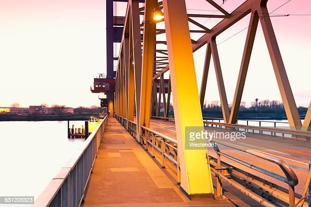 Germany, Hamburg, Bridge, Elbe river