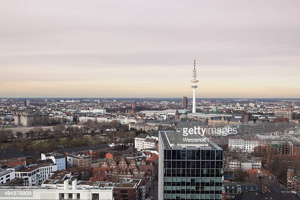Germany, Hamburg, downtown and TV tower