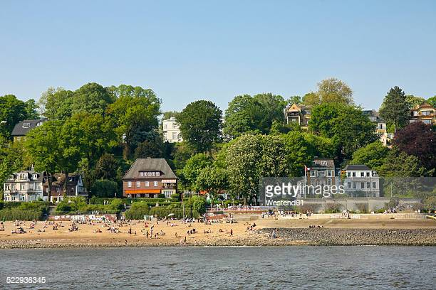 Germany, Hamburg, Elbstrand, Beach at the Elbe river