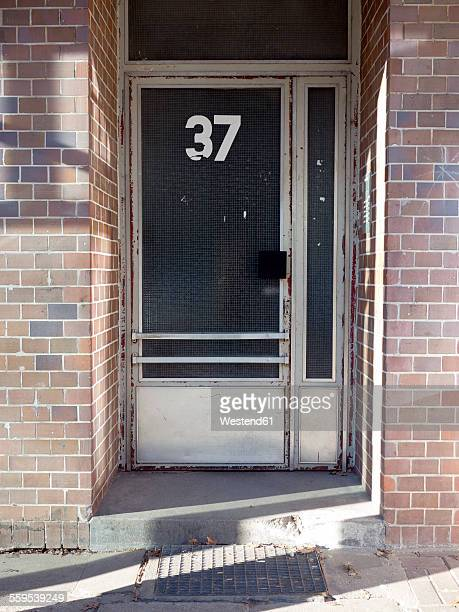 Germany, Hamburg, entrance with house number 37