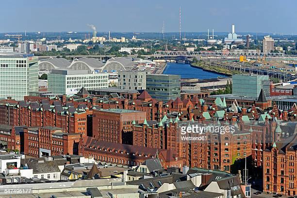 Germany, Hamburg, harbor, Speicherstadt and Hafencity