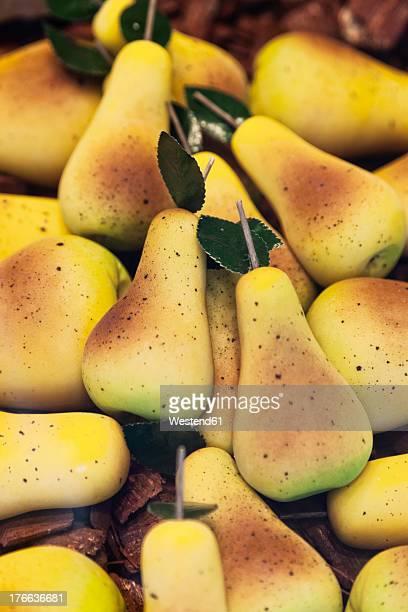 Germany, Hamburg, Pear shaped marzipan, close up