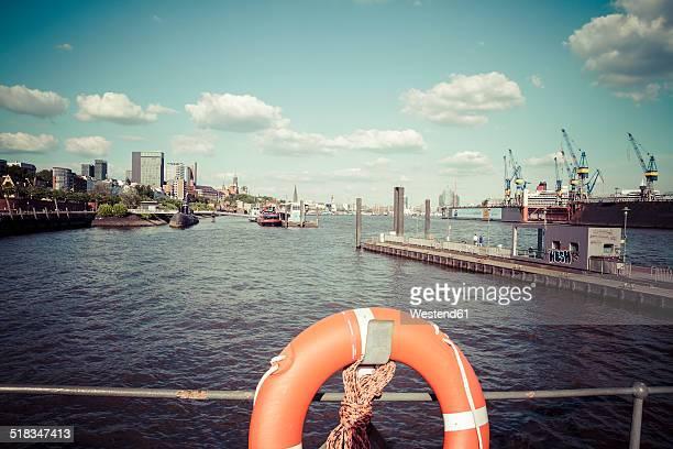 Germany, Hamburg, Port of Hamburg, Lifebelt