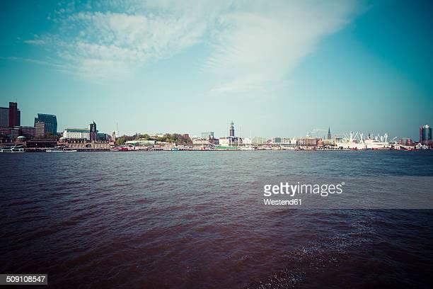 Germany, Hamburg, Port of Hamburg, Skyline, Cityscape