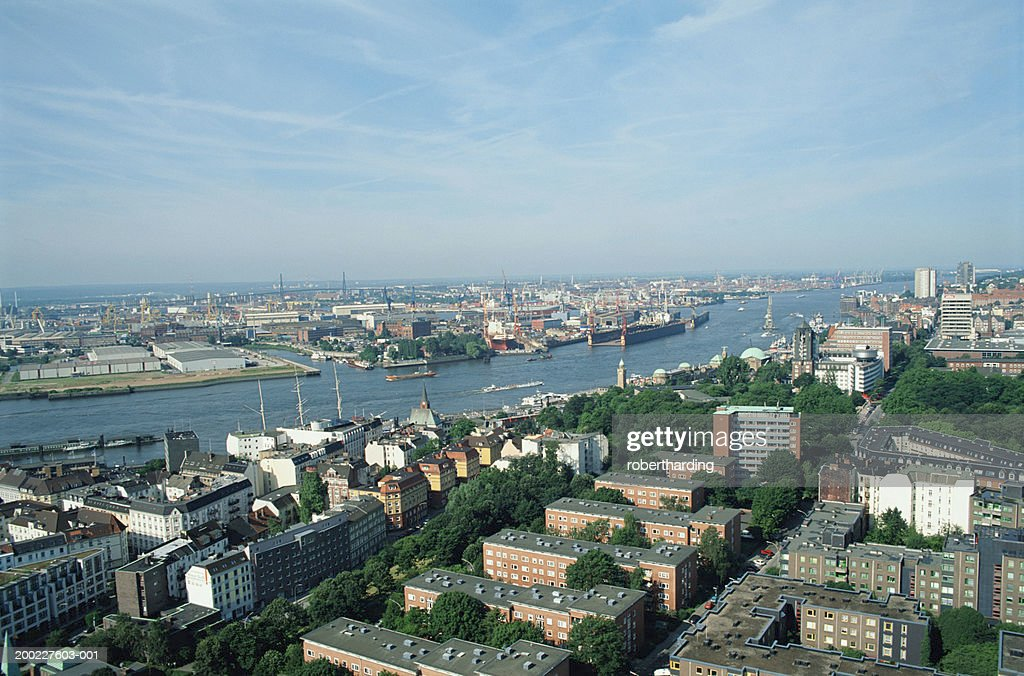 Germany, Hamburg, view from St. Michaelis Church : Stock Photo