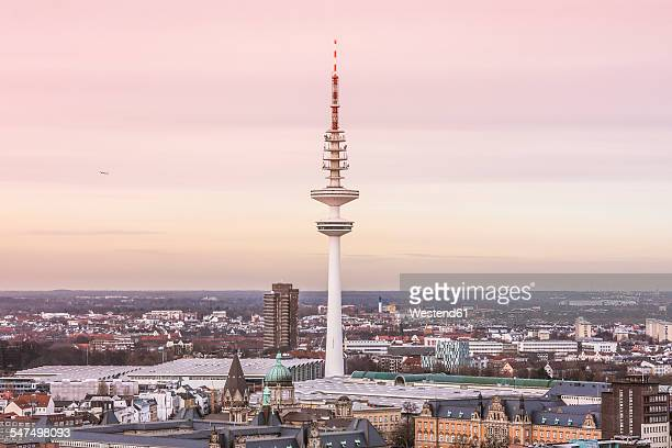 Germany, Hamburg, View from St. Michaels Church on the Heinrich-Hertz-Tower