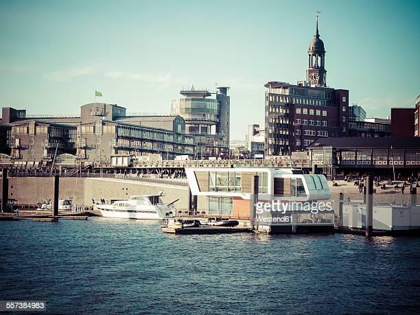 Germany, Hamburg, view to city with St. Michaelis Church
