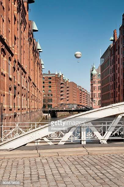 Germany, Hamburg, Warehouse district, Kannengiesserort bridge