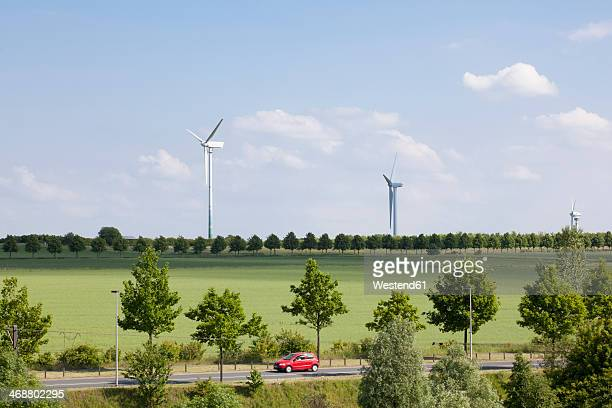 Germany, Hanover, wind turbines and enviroment