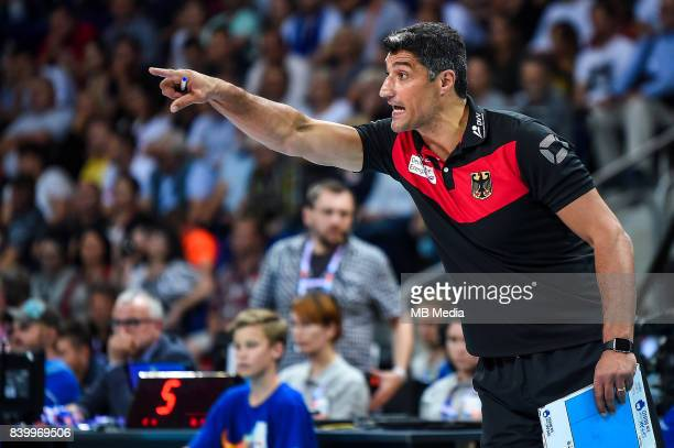 Germany head coach Andrea Giani during the European Men's Volleyball Championships 2017 match between Germany and Italy on August 25 2017 in Szczecin...
