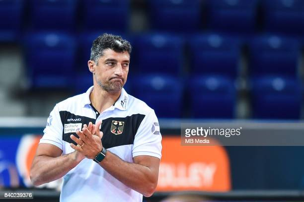 Germany head coach Andrea Giani during the European Men's Volleyball Championships 2017 match between Slovakia and Germany on August 28 2017 in...