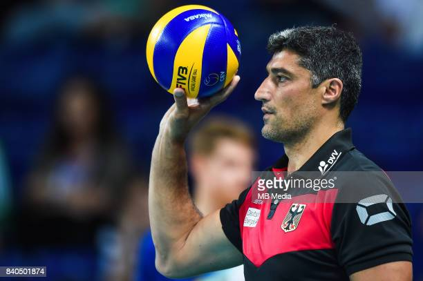 Germany head coach Andrea Giani during the European Men's Volleyball Championships 2017 match between Czech Republic and Germany on August 27 2017 in...