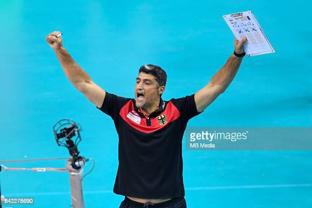 Germany head coach Andrea Giani during the Final of the European Men's Volleyball Championships 2017 match between Germany and Russia on September 3...