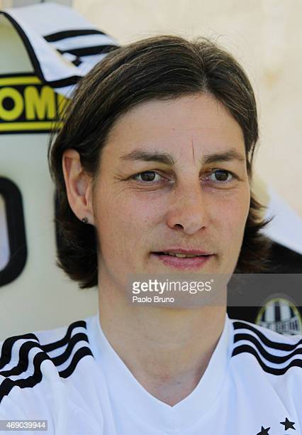 Germany head coach Anouschka Bernhard looks on during the UEFA Under17 women's Elite Round match between U17 Germany and U17 Belarus at Stadio...