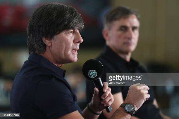 Germany head coach Joachim Loew and U21 head coach Stefan Kuntz announce the German squads for the FIFA Confedereations Cup Russia 2017 and the UEFA...