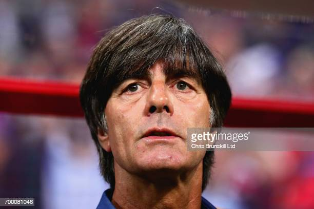 Germany Head Coach Joachim Low looks on during the FIFA Confederations Cup Russia 2017 Group B match between Germany and Chile at Kazan Arena on June...