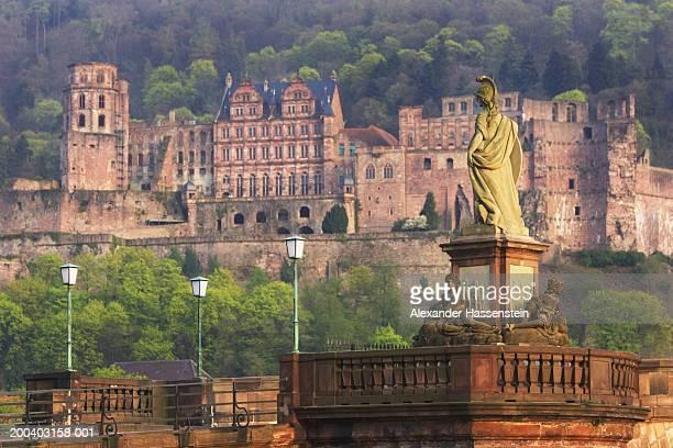 Germany, Heidelberg, Karl Theodor Bridge and Heidelberg Castle
