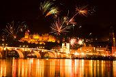 Germany, Heidelberg, New Year's Eve celebration