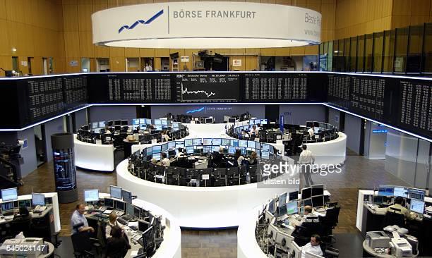 Germany Hesse Frankfurt am Main stock exchange 'Deutsche Boerse AG'