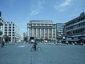 Germany, Hesse, Frankfurt, buildings at Goetheplatz and Rossmarkt