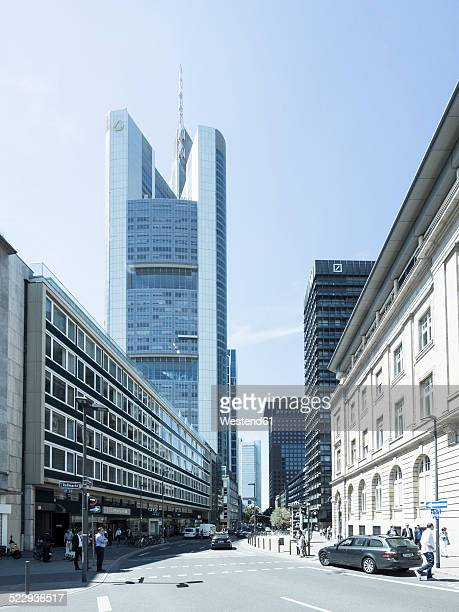 Germany, Hesse, Frankfurt, Commerzbank Tower, View from Rossmarkt