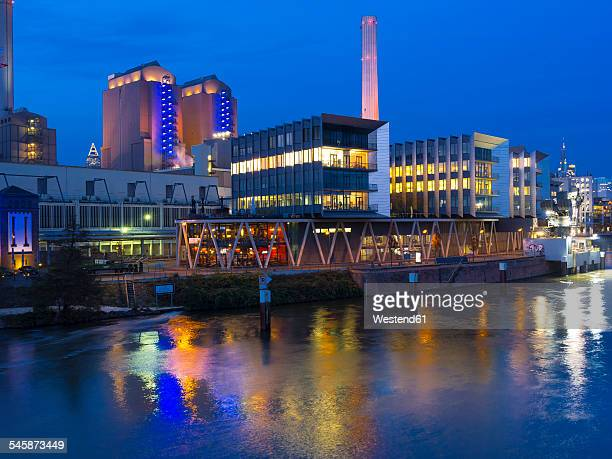 Germany, Hesse, Frankfurt, Gutleutviertel, Westhafen, in the evening
