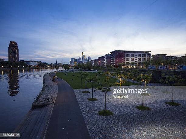 Germany, Hesse, Frankfurt, Ostend and skyline of Frankfurt