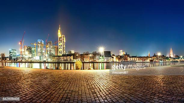 Germany, Hesse, Frankfurt, Skyline at night
