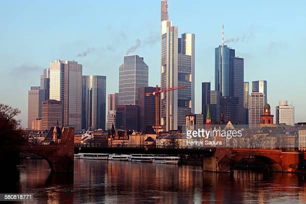 Germany, Hesse, Frankfurt, Skyline with skyscrapers