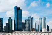 Germany, Hesse, Frankfurt, View of the financial district