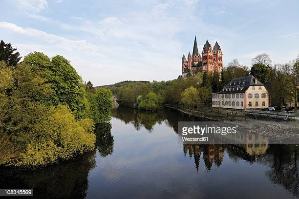 Germany, Hesse, Limburg Cathedral near river