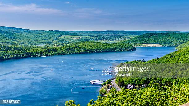 Germany, Hesse, Waldeck, View to Lake Edersee from Castle Waldeck