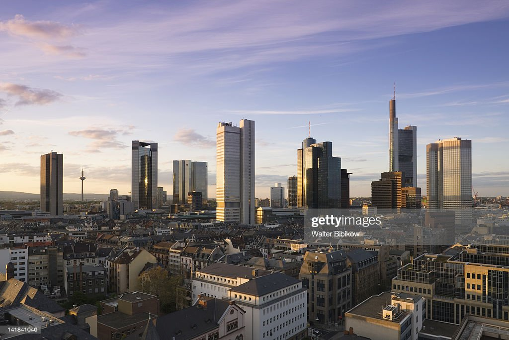 Germany, Hessen, Frankfurt-am-Main, Financial District view : Stock Photo