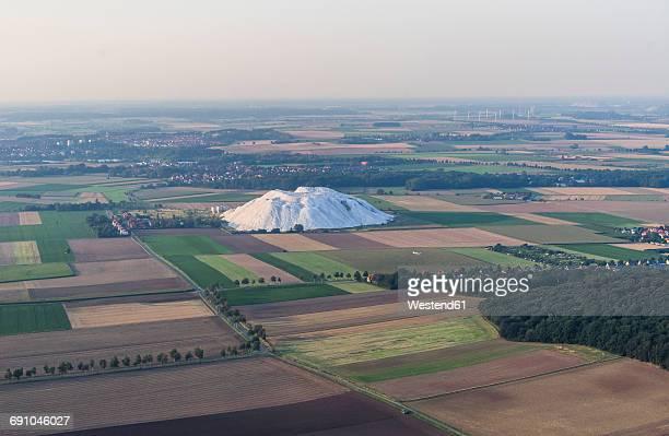 Germany, Hildesheim, arial view of potash mining