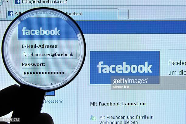 Homepage Website of facebook