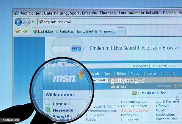 Homepage Website of Microsoft Network MSN