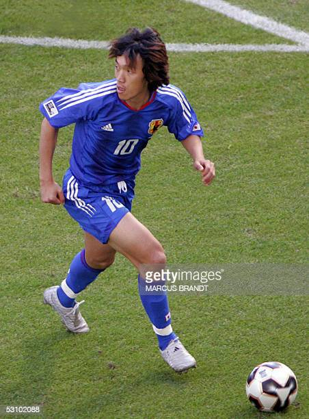 Japanese midfielder Shunsuke Nakamura is seen during the 2005 FIFA Confederations Cup football match Japan vs Greece at Waldstadion in Frankfurt 19...