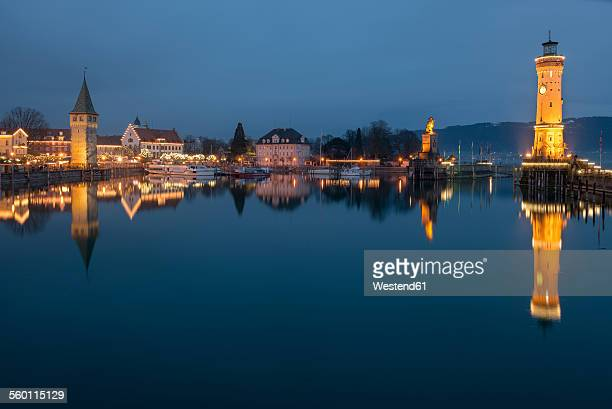 Germany, Lake Constance, harbor entrance in Lindau