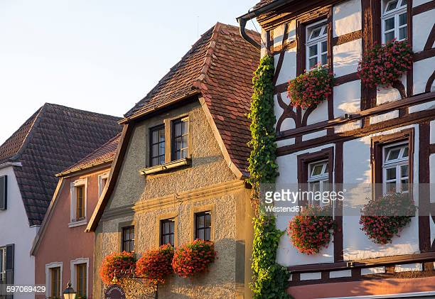 Germany, Lower Franconia, Volkach, Historical houses on the market place